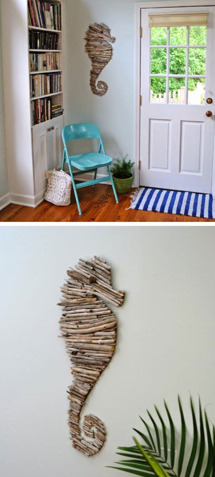 How to make a Driftwood Seahorse | DIY Home Decor Ideas on a Budget | DIY Home Decorating on a Budget