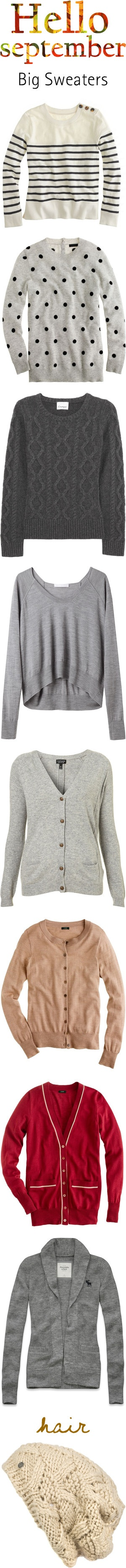 I love sweaters and cardigans. c: