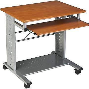 Tiffany Industries, Empire Mobile Computer Desk, Cherry (Red)