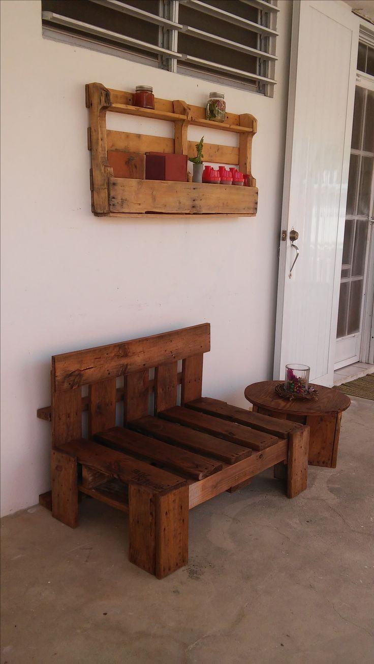 Mejores 65 im genes de mis inventos hand craft madera for Banco de paletas de madera