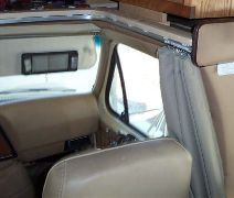 RV Windshield Wrap Around Privacy Curtains Using 4108 Track                                                                                                                                                     More