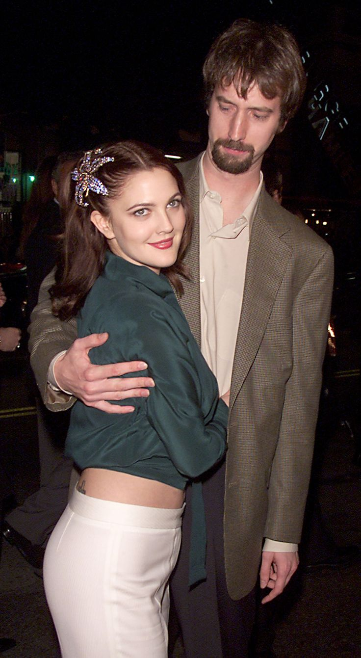 Drew Barrymore and Tom Green. After dating less than a year the two eloped in March 2001. They filed for divorce in December of that same year.