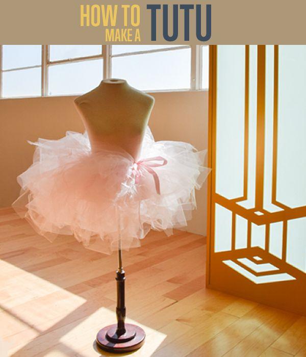 How To Make a Tutu Skirt | Easy No Sew Tutorial - Super cute, simple tutorial for dress up or ballet #DIYReady | diyready.com