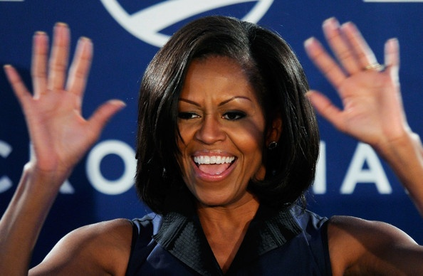 Michelle Obama Photos: First Lady Michelle Obama Thanks Supporters At Campaign…
