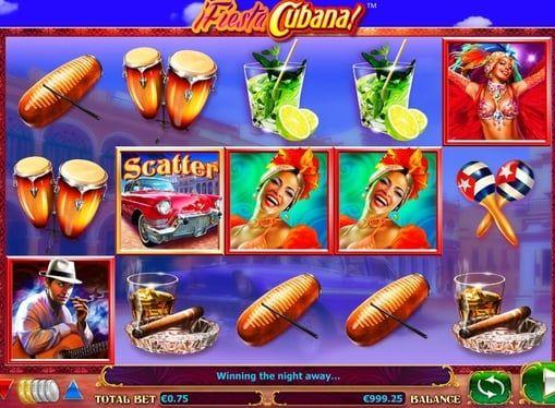Игровой автомат Fiesta Cubana играть на деньги  Fiesta Cubana – игровой автомат, открывающий всю красоту Кубы, острова свободы. Начните играть в этот аппарат на реальные деньги и окунитесь в атмосферу горячего карнавала!  Выигрыши в автомате Fiesta Cubana Аппарат приковывает к с�