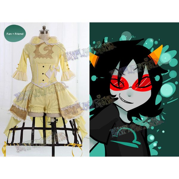 Homestuck Inspired Cosplay Terezi Costume Outfit ($240) ❤ liked on Polyvore featuring costumes, role play costumes, cosplay costumes and cosplay halloween costumes