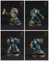 Space Marine Terminator Assault Squad - members by Colorfulsavage