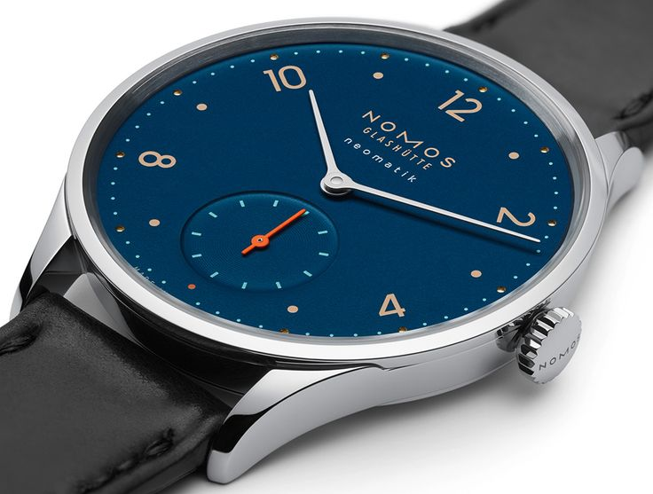 """Nomos Neomatik Nachtblau Watches - by Jack Wagner - With cool midnight-blue dials and the DUW 3001, these new Neomatiks are quite the package. More at: aBlogtoWatch.com - """"German watch manufacturer Nomos has just released three models of its Neomatik line of watches with nachtblau (midnight blue) dials. The Tangente Neomatik Nachtblau, the Metro Neomatik Nachtblau, and the Minimatik Nachtblau will join the Tetra Neomatik Nachtblau in this midnight blue series of watches..."""""""