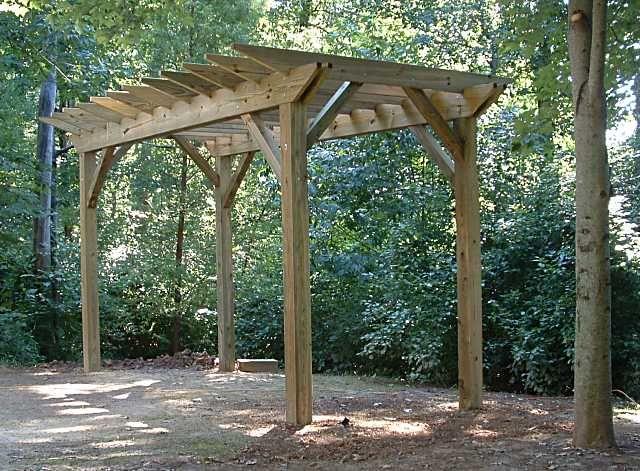 55 best Wood crafts images on Pinterest DIY, Backyard ideas and - garden arbor plans designs