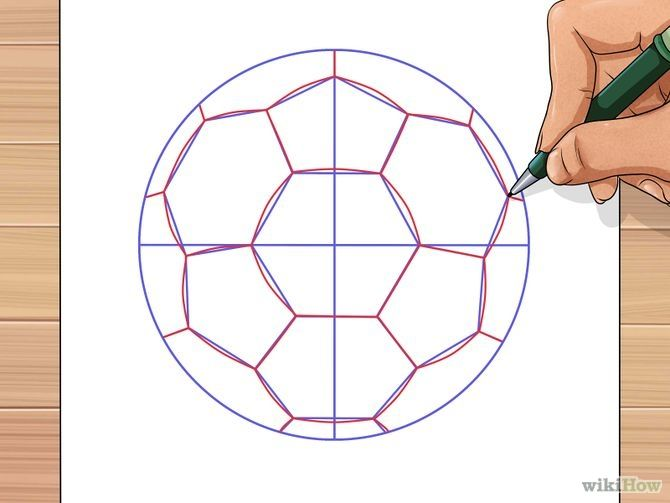 Image titled Draw a Soccer Ball Step 7
