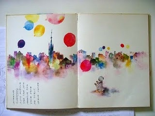 This is the work of Japanese illustrator Chihiro Iwasaki. I adore her images and have begun a little collection of her books.