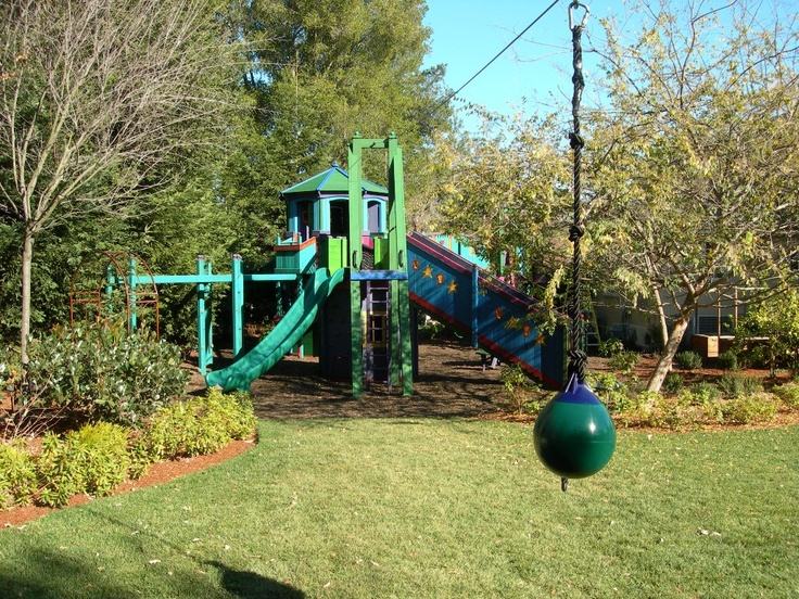 Backyard Treehouse Without Tree : + images about tree houseswingset on Pinterest  Diy swing, Outdoor