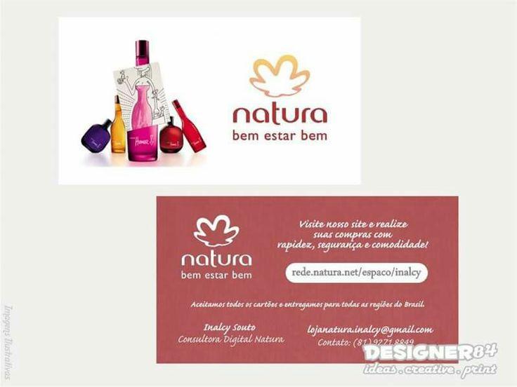 Cliente: Inalcy Souto / Consultora Natura / Midia de Exposição: Cartão de Visita