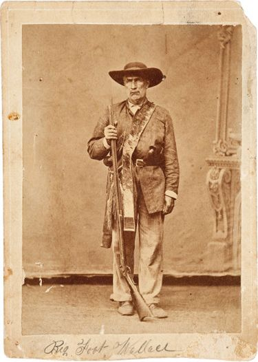 "William Alexander Anderson ""Bigfoot"" Wallace, ""famous veteran of the Texas War of Independence and the Mexican War, Indian fighter, and Texas Ranger ""Bigfoot"" Wallace."""