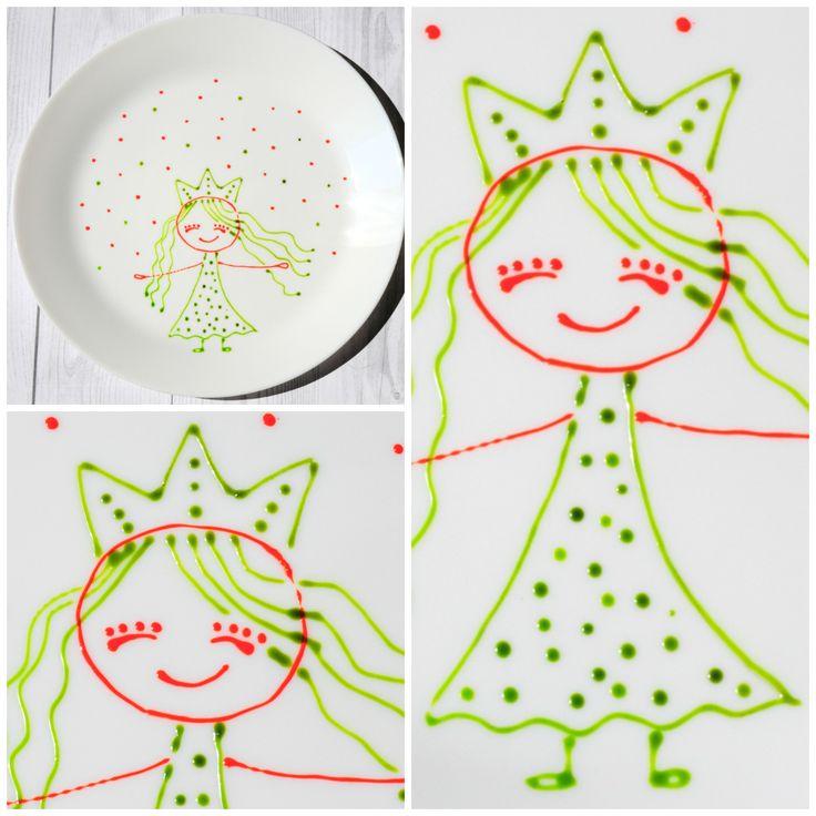 prințesa are farfuira ei pentru desert. povestipefarfurie povesti pe farfurie handmade farfurie pictata de mana pentru copii de Anaisme