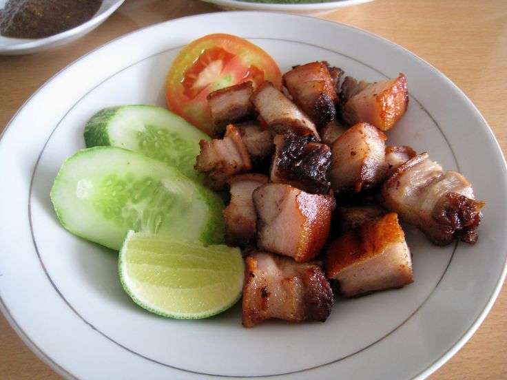 Batak cuisine, panggang grilled pork.