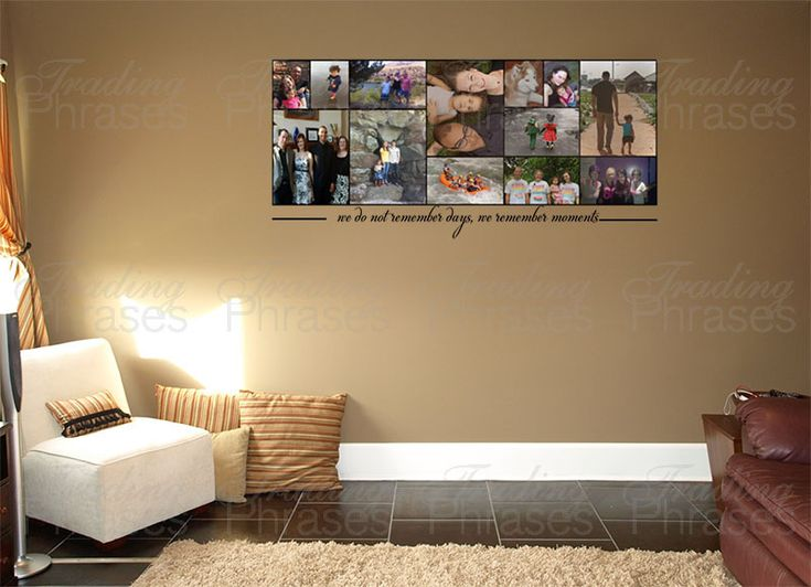 Best Photo Collages Images On Pinterest - Can i put a wall decal on canvas