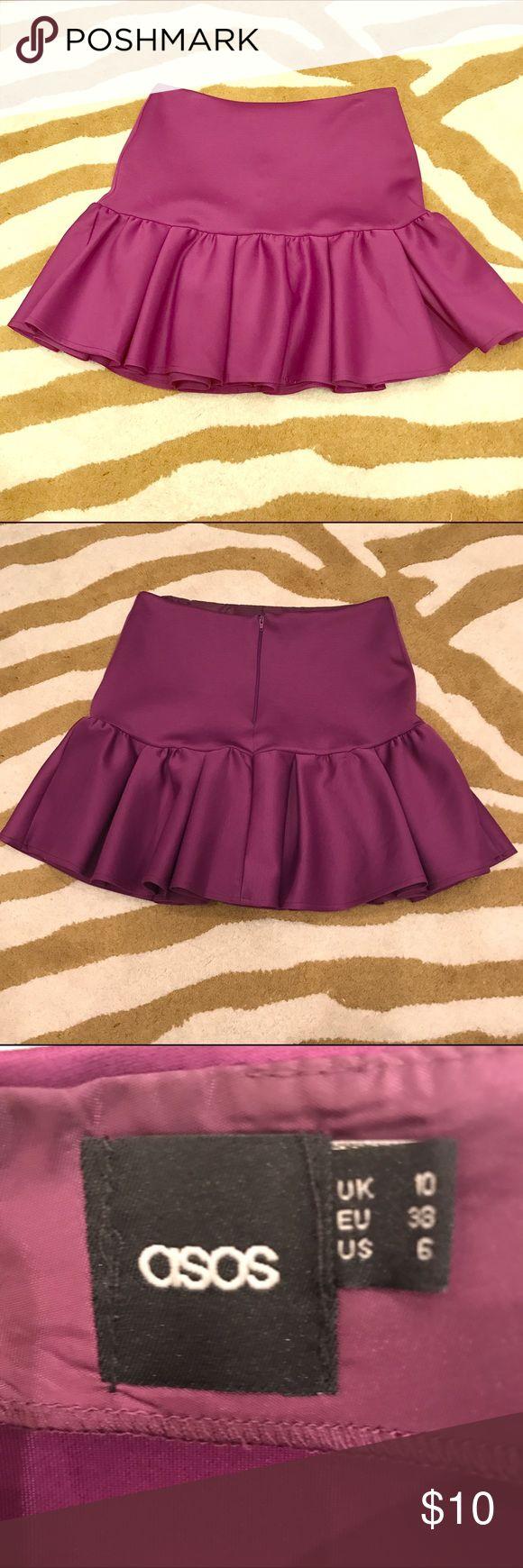 Asos skirt Scuba mini skirt from asos. Great condition. ASOS Skirts Mini