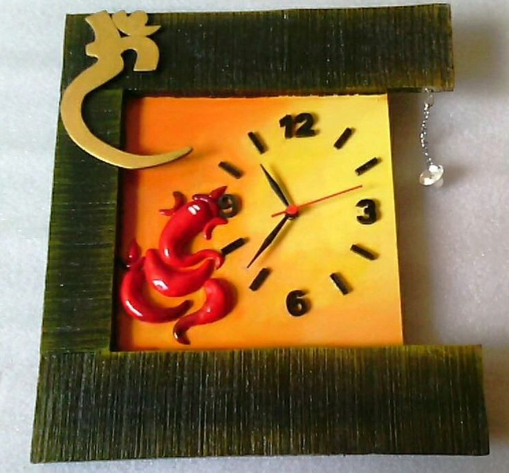 Inspired from nature, this is an exquisite yellow color wall clock. The Square shape ganpati wooden Wall Clock makes an ideal addition in your room. The material further grants it longevity.