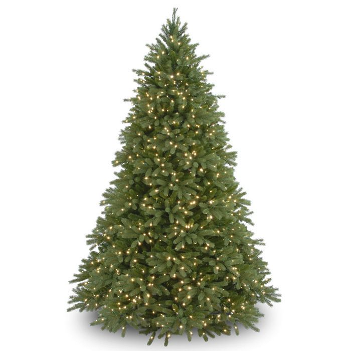 """""""Feel-Real"""" 7 1/2' Jersey Fraser Fir Hinged Tree with Lights"""