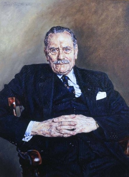 """Enoch Powell, British, 1912-1998  Hear his """"Rivers of Blood"""" speech here:  http://www.youtube.com/watch?v=EB-wguopzck  Or for a shorter but important excerpt:  http://www.youtube.com/watch?v=1cn7dDF74yE"""