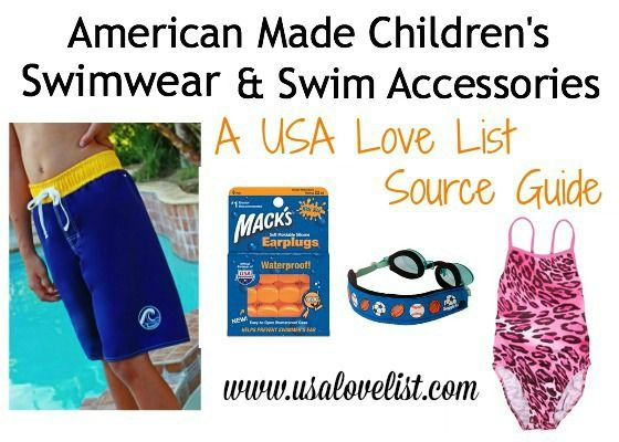 American Made Swimwear & Swim Accessories for Children of All Ages #madeinusa