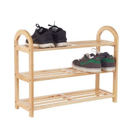 Howards Storage World | Casa Mia 3 Tier Wooden Shoe rack