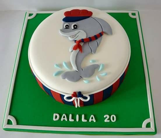#torta #cakedesign #festa #compleanno #italia #birthday #foophotography #home #homedecor #delfino #rossoblu #cake #cioccolato #cake