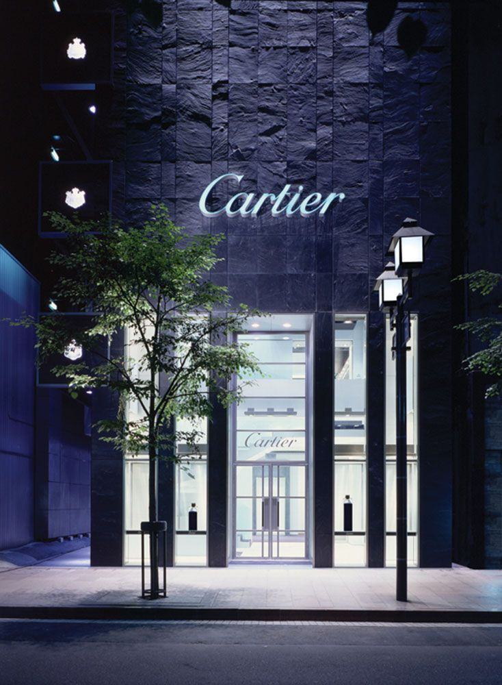 PROJECT: Cartier - Tokyo - Japan. Bespoke Cladding. STONE: Kirkby Stone FINISH: Clef