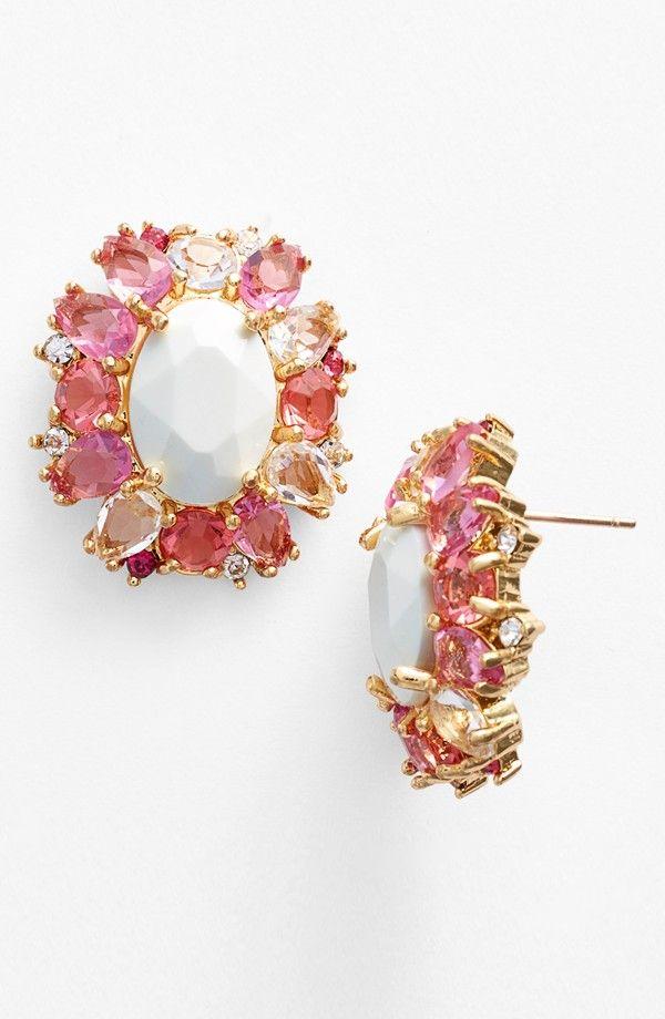 Stunning multi pink Kate Spade crystal earrings.