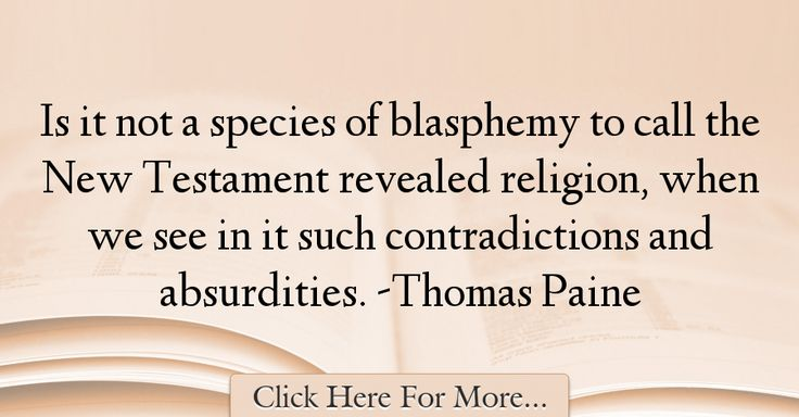 Thomas Paine Quotes About Religion - 58600