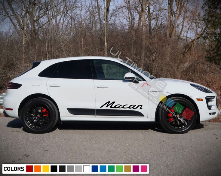 Sticker Decal Graphic Side Door Stripes for Porsche Macan 2016 – 2018 Sport suv