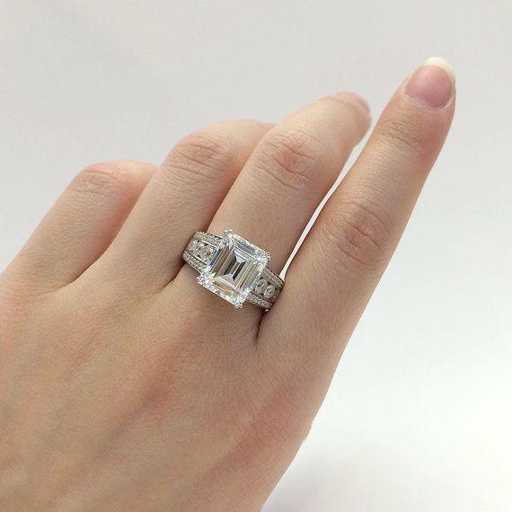 2.500CT Round Cut 14k Yellow Gold Ring Moissanite Engagement Ring Moissanite Engagement  Ring