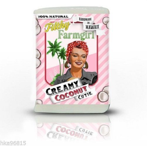 Creamy Coconut Cutie Natural Large Glycerin Bar Soap Coconut Soy Filthy Farmgirl