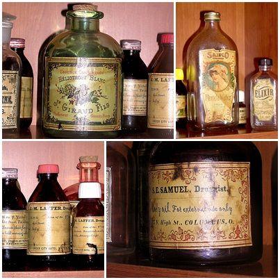 Decorar frascos de cristal 1: Imitando tarros de botica antigua. Como envejecer papel.