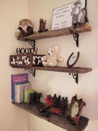 cowboy nursery shelving would be cute if we have a little boy someday