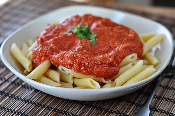 Red Brie Pasta Sauce - add brie cheese to your pasta sauce for another dimension of flavor