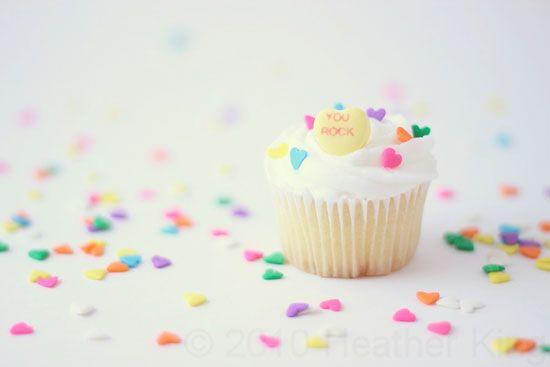 Candy Heart Cupcake Photography