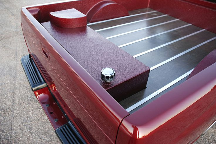 Truck Bed Roll Out Color Matched Bed Liner And