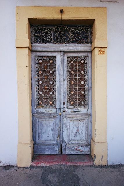 A door in Larnaca, Cyprus.
