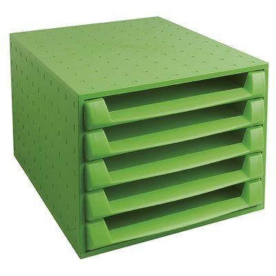 Caisson 5 tiroirs The box Vert