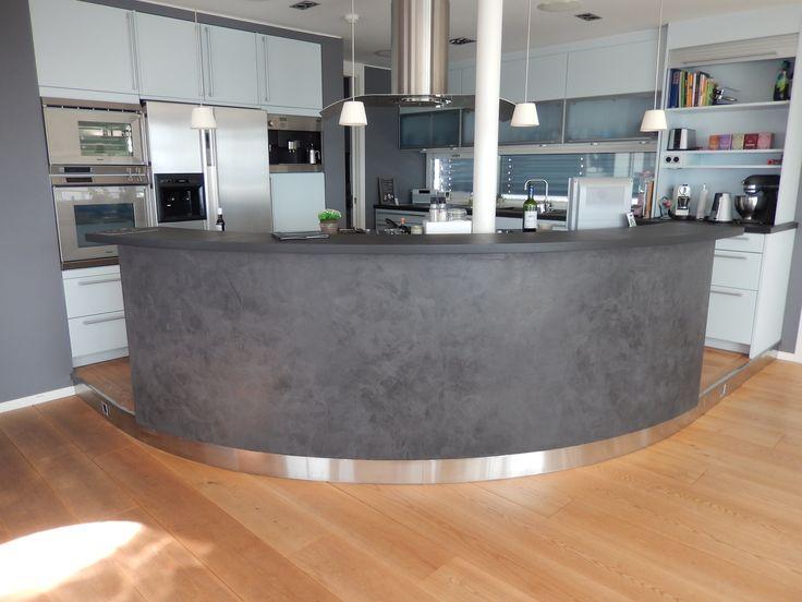 Mikrosement på barløsning kjøkken