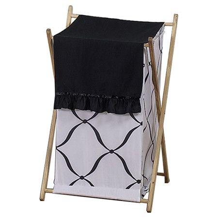 Perfect Princess Black And White Laundry Hamper
