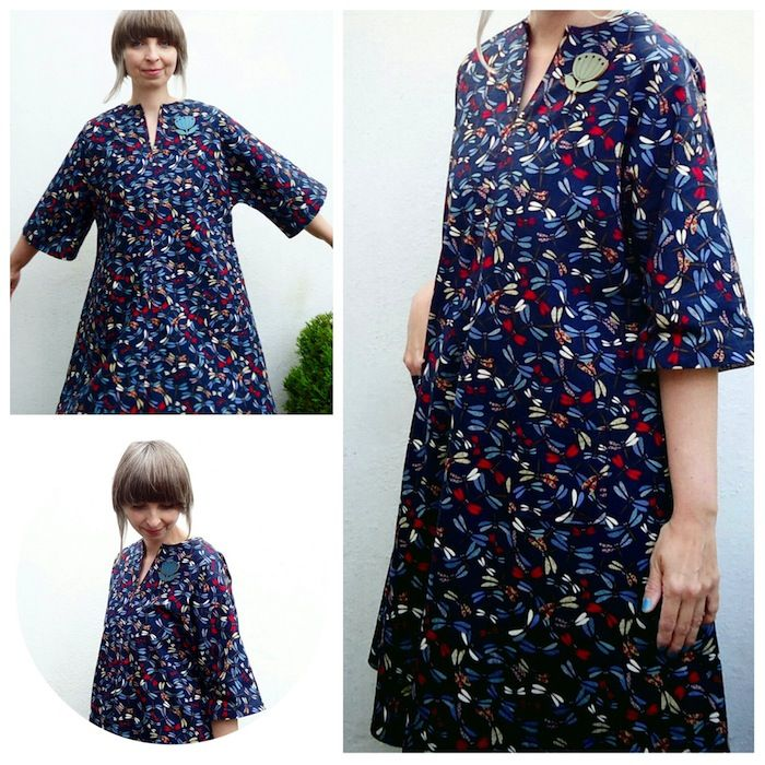 Butterick 3349 Sew & Go, a vintage 1970s sewing pattern sewn by Ivy Arch. Took 3 hours from start to finish!