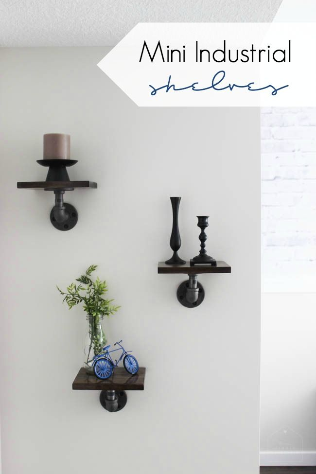 mini industrial shelves wall ideasdiy
