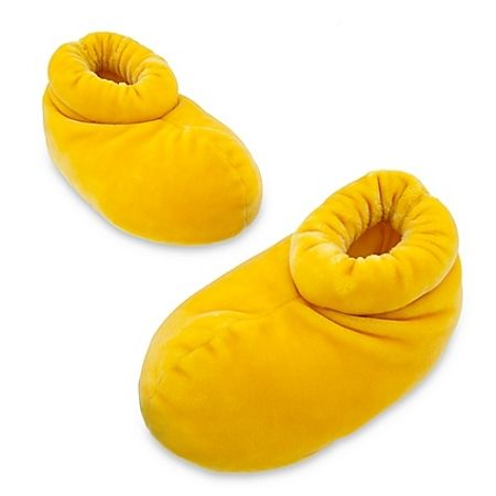 Disney Slippers for ADULTS - Plush Mickey Mouse Shoes - Yellow