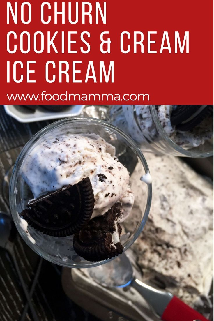 This No Churn Cookies and Cream Ice Cream is made with only 3 ingredients! An ice cream maker is not needed to make this creamy dessert.