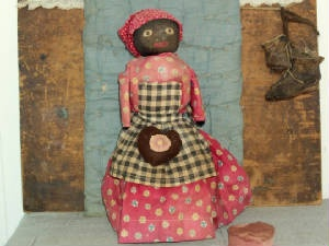 So Prim! primitive, antique black doll