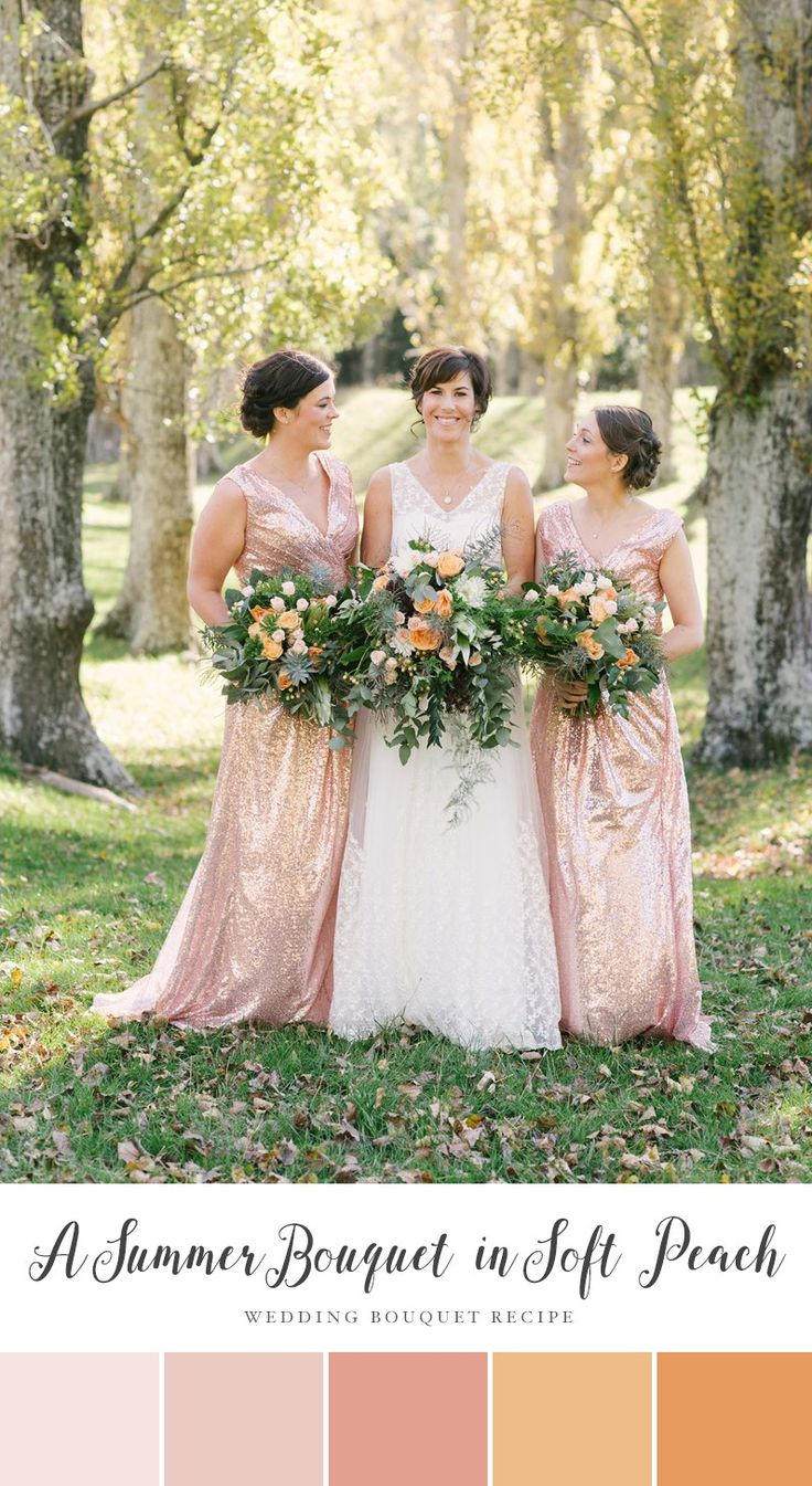 340 best peach weddings images on pinterest peach weddings a summer bridal bouquet of soft peach blooms ombrellifo Image collections