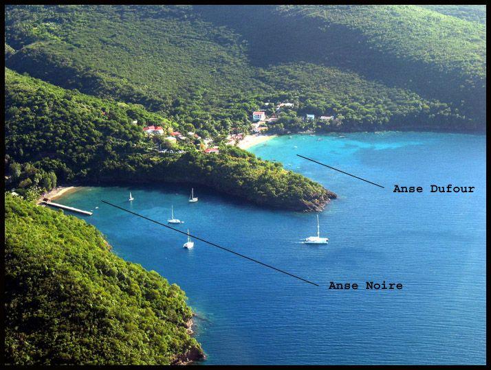 Anse dufour - Anse noire - anses d'arlets (sable blanc - sable noir)